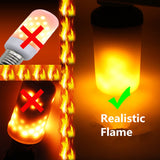 LED Flame Effect Flickering Fire Light Bulb with Gravity Sensor - Shopichic