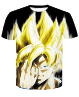 Dragon Ball DBZ Bulma Super Saiyan Vegeta T-shirt 3D Unisex Goku Goten Gohan T-shirt With a FREE  Keychain