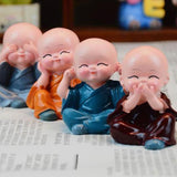 4 pieces of Buddha Statues monks - Shopichic