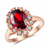 Royal Rose Gold Cubic Zirconia Ring - Shopichic