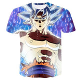 Super Saiyan 3D T Shirt Anime Dragon Ball Z Goku Master Roshi Print Cartoon T-shirt With A Free Keychain - Shopichic