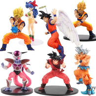 Dragon Ball Z Figurine Vegeta Goku Gohan Cell Frieza Lunchi  Action Figures Collectible With Free Keychain - Shopichic