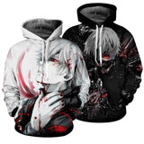 Tokyo Ghoul 3d Print Unisex Hooded Sweatshirt Casual - Shopichic