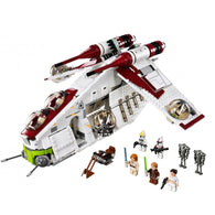 STAR WARS FORCE EPISODE 1 2 3 4 5 LEPIN 05041 BLOCKS LEGOING 75021 CLONE THE REPUBLIC GUNSHIP SET TOYS OBIWANG AMIDALA WITH LEGOINGS AT_72_6 - Shopichic
