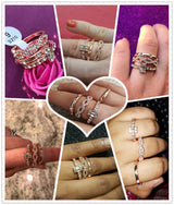 Crystal Rings Set - Shopichic