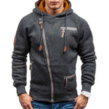 Casual Long Sleeve Mens Hoodies Sweatshirts Slim Zipper Hoody Sweatshirt Men Hooded Streetwear - Shopichic