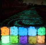 50pcs 100pcs Aquarium Glow In The Dark Luminous Pebbles Stones - Shopichic