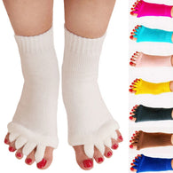2Pcs Five Toe Separators Socks Orthopedic Bunion Corrector With Free Toe Corrector - Shopichic