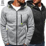 Men Sports Casual Wear Zipper Fashion Hoodies Fleece Jacket Fall Sweatshirts Autumn Winter Coat - Shopichic
