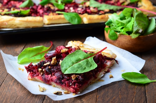 Goat Cheese and Beetroot Tart