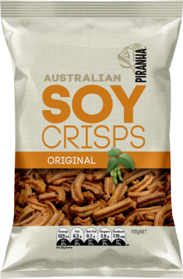 Piranha Soy Crisps Original 100g New