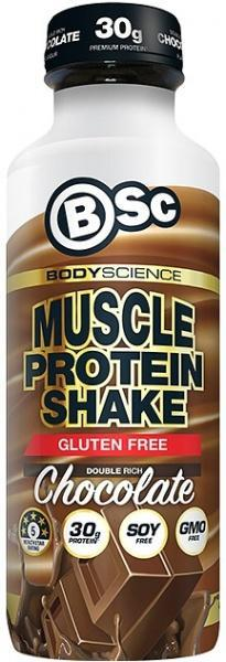 BSc RTD Muscle Protein Shake Double Rich Chocolate G/F 450ml