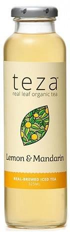 Teza Lemon & Mandarin Real Brewed Iced Tea 12x325ml