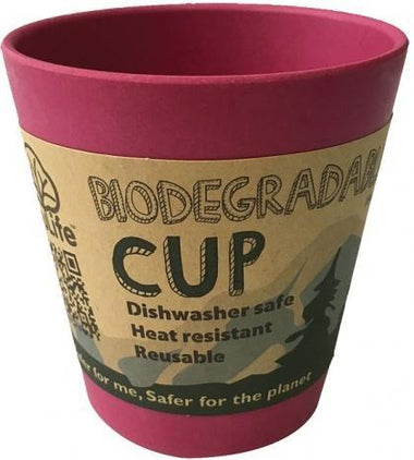 EcoSouLife Bamboo Cup Pink 296ml
