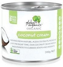 Global Organics Organic Coconut Cream G/F 200g Can