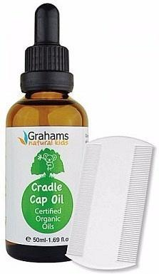 Grahams Natural Kids Organic Cradle Cap Oil with Comb 50ml-Health Tree Australia