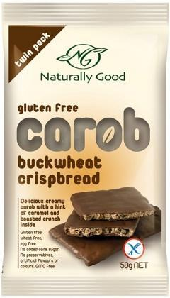 Naturally Good Buckwheat Carob Crispbreads GW/F x 12