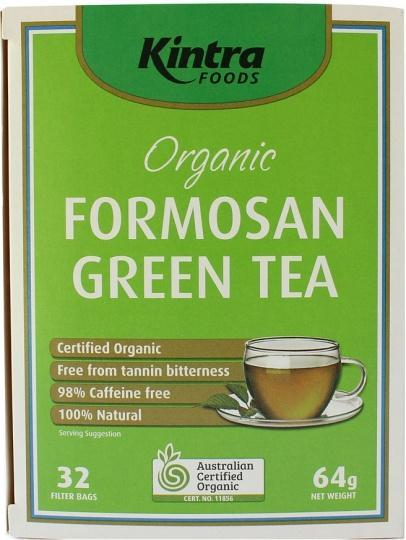Kintra Foods Organic Formosan Green Tea 32Teabags