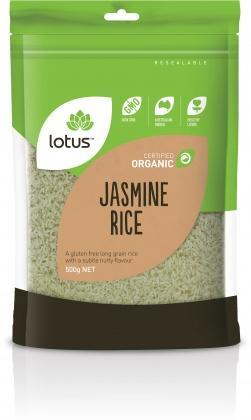 Lotus Organic Jasmine Rice 500gm