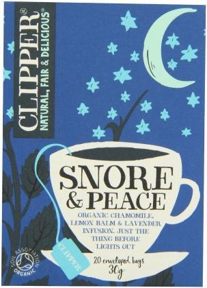 Clipper Snore & Peace - Organic Chamomile, Lemon Balm & Lavender Infusion 20Teabags