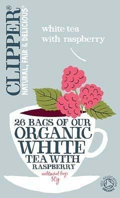 Clipper Organic White Tea with Raspberry 26Teabags