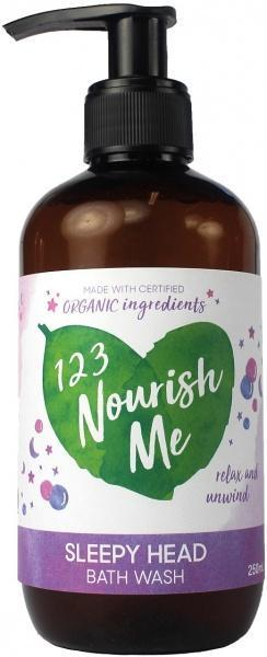 123 Nourish Me Sleepy Head Bath Wash Pump 250ml New