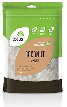 Lotus Coconut Shredded Organic G/F 250g