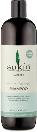 Sukin Natural Balance Shampoo 500ml Cap