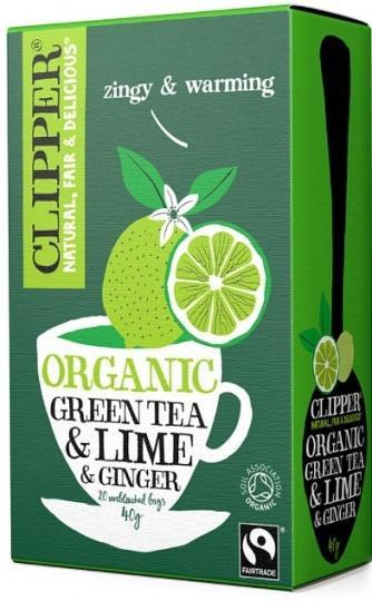 Clipper Fair Trade Organic Green Tea with Lime & Ginger 20Teabags