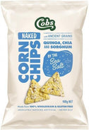 Cobs Naked Corn Chips By The Sea Salt G/F 12x168g