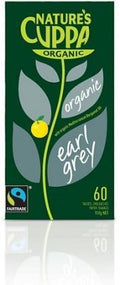 Natures Cuppa Org Earl Grey 60Teabags 20%Extra