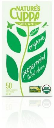 Natures Cuppa Organic Peppermint 50 Teabags-Health Tree Australia