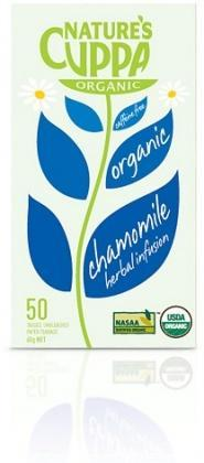 Natures Cuppa Organic Chamomile with Peach 50 Teabags-Health Tree Australia