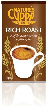 Natures Cuppa Caffeine Free Coffee Alt Powder Rich Roast 125gm-Health Tree Australia