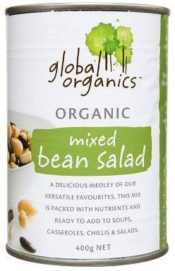 Global Organics Mixed Bean Salad 400gm