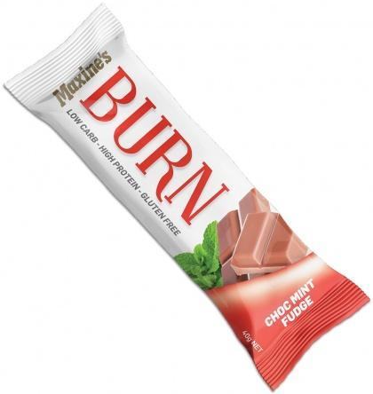 Maxine's Burn Bar Choc Mint Fudge G/F 12x40g