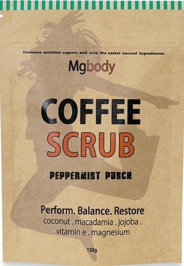Mgbody Scrub Coffee+Magnesium+Coconut - Peppermint Punch 130g