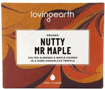Loving Earth Nutty Mr Maple Chocolate Bar G/F 11x45g