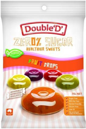 Double D Sugar Free Fruit Drops 70g