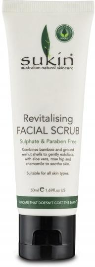 Sukin Revitalising Facial Scrub 50ml Travel Size-Health Tree Australia