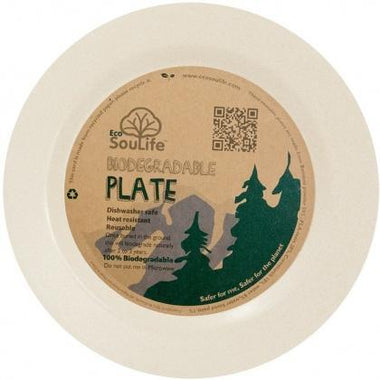 EcoSouLife Bamboo (D19.5 x H1.4cm) Side Plate Sand-Health Tree Australia