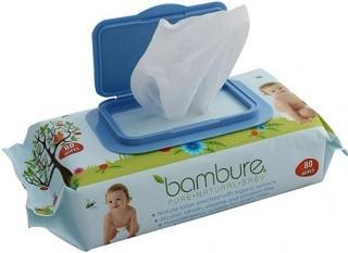 Bambure Natural Baby Wipes Pck80-Health Tree Australia