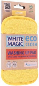 White Magic Washing Up Pad Lemon - 15x8cm-Health Tree Australia