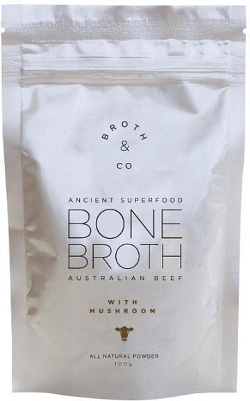 Broth & Co Australian Beef Bone Broth with Mushroom 100g Pouch New