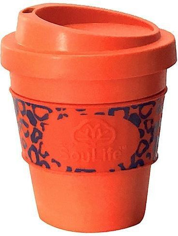 EcoSouLife Bamboo Aroma Sip Traveler Cup Orange 355ml-Health Tree Australia