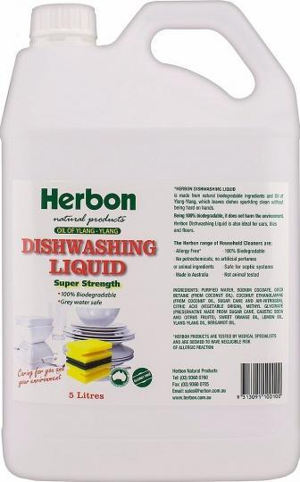 Herbon Dishwashing Liquid 5lt