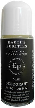 Earths Purities Mens Natural Nero for Him Liquid Roll On Deodorant 50ml
