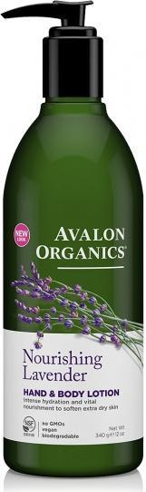 Avalon Organics Nourishing Lavender Hand & Body Lotion 350ml-Health Tree Australia