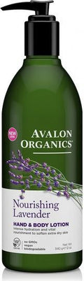 Avalon Organics Nourishing Lavender Hand & Body Lotion 350ml