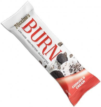Maxine's Burn Bar Cookies & Cream G/F 12x40g-Health Tree Australia